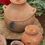 Such clay pots will be produced and sold here and create another possibilty of income for the women.